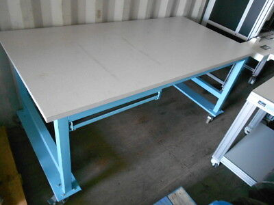 "36"" X 72"" X 34.5"" Tall Laminated Top Lab Work Table/bench On Castors With Drawer"