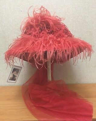 Red Hat - Scarlet Tea-Party Hat