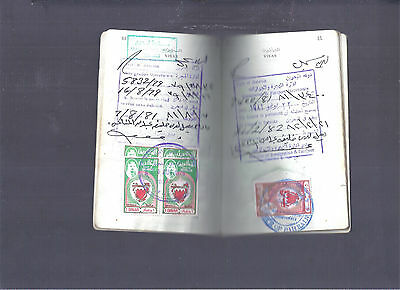 Bahrain Egypt Complete Travel Book With Multi High Value Bahrain Revenue Stamps