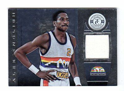 Alex English Nba 2013-14 Totally Certified Materials (Nuggets,mavericks,pacers,)