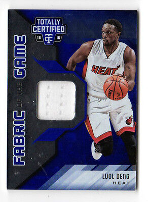 Luol Deng Nba 2015-16 Totally Certified Fabric Of The Game Blue (Miami Heat)