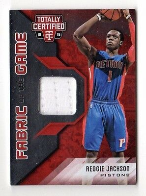 Reggie Jackson Nba 2015-16 Totally Certified Fabric Of The Game Blue (Pistons