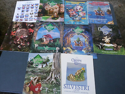 Harmony Kingdom Charming Tails Catalogs & More!  One Signed By Dean Griff!