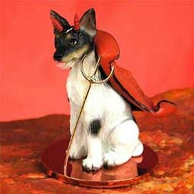 Rat Terrier Devil Dog Tiny One Figurine Statue