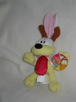 """ODIE DOG FROM GARFIELD 8-10"""" SOFT TOY Wv RABBIT EARS - NEW Wv TAG"""