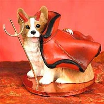 Welsh Corgi Pembroke Devil Dog Tiny One Figurine Statue