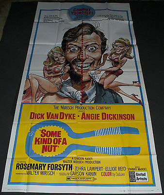 SOME KIND OF A NUT 1969 ORIGINAL 41x81 MOVIE POSTER! JACK DAVIS COMEDY ART!