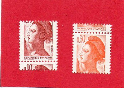 Timbres France N°2179+2182 Piquages A Cheval Neufs Xx.tb