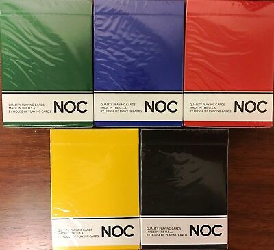 NOC Original 5 Deck Set Playing Cards Poker Size USPCC HOPC Custom Limited New