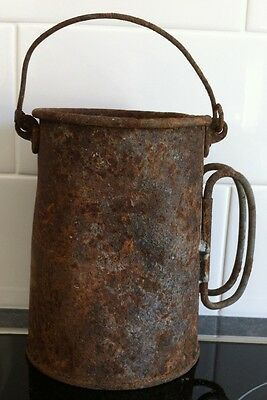 Old Rusty Billy Can ( With Handles)