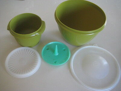 TUPPERWARE ''RARE COLOUR'' CRISP IT LETTUCE KEEPER WITH SEAL + servalier bowl -