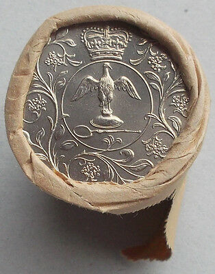 COIN ROLL - 1977 Silver Jubilee Crown in Original Coin Roll of 20 Crowns (L3)