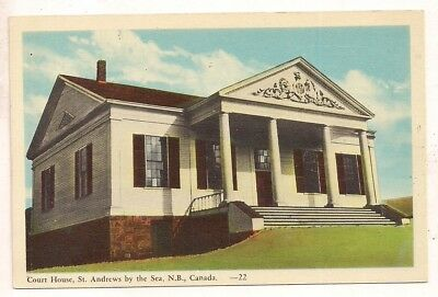 Court House, St. Andrews by the Sea, NB New Brunswick Postcard 091317