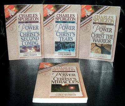 Charles Spurgeon 4 Tpb Lot~ The Power Of Christ's Tears~Second Coming~Miracles +