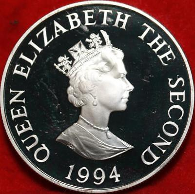 Uncirculated Alderney 2 Pounds .925 Silver Proof Coin Free S/H