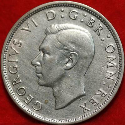 Uncirculated 1942 Great Britain 1/2 Crown Silver Foreign Coin Free S/H