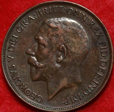 1912-H Great Britain Penny Foreign Coin Free S/H