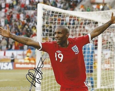 England Jermain Defoe Autographed Signed 8x10 Photo COA