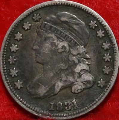 1831 Philadelphia Mint Silver Capped Bust Dime Free Shipping