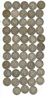 53 Barber Quarters - Assorted Date - Average circulated - FREE SHIPPING in USA
