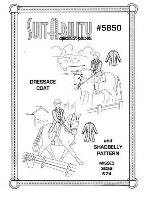 Horse & Western  Suitability Dressage Coat Shadbelly Sewing Pattern 5850