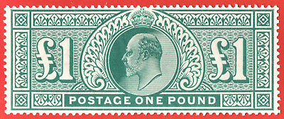 [mag274] GB 1902 SG 266, £1 dull blue-green, mint never hinged SUPERB !!!!