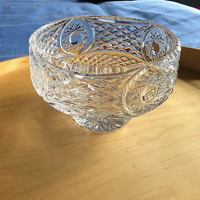 "Tyrone Crystal 'ARMAGH BOWL' 6"" Dia 3.75"" Tall in Good Condition- NO BOX 1326 gm"