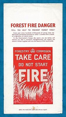 Original 1955 Forest Fire Danger Leaflet - Forestry Commission