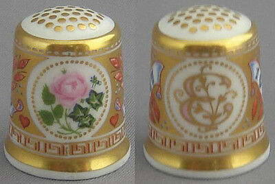 Royal Crown Derby Thimble - Golden Wedding Anniversary, the Queen
