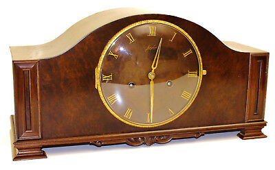 Junghans Chiming Mantel Clock  Art Deco Bauhaus Germany  In Top Condition