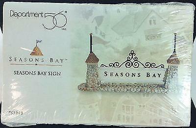 Department 56 Seasons Bay Sign #53343 Sealed 1998