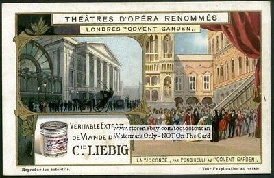 Royal Opera House Covent Garden London Music 1920s Trade Ad Card