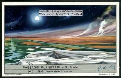 Red Planet Mars Marte Solar System c60 Y/O Astronomy Trade Ad  Card