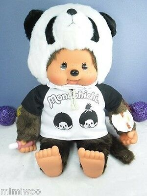 Monchhichi L Size Plush 55cm MCC with Tee and Panda Hat  ~~ FREE SHIPPING ~~~