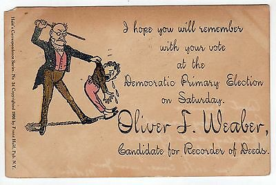 1907 POLITICAL POSTCARD PC Pennsylvania PA Oliver Weaber RECORDER DEED Allentown