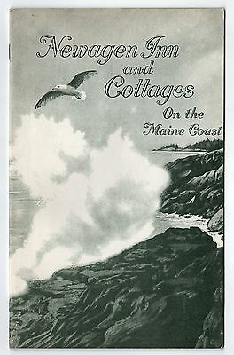 Rare 1940s NEWAGEN INN Cottages MAINE COAST Boothbay Harbor BOOKLET Hotel TRAVEL