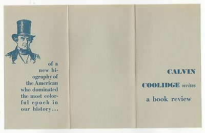 1929 PROMOTIONAL BROCHURE President Calvin Coolidge ALLAN BENSON Daniel Webster