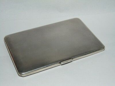 QUALITY 196g ANTIQUE 1937 MAPPIN & WEBB SOLID SILVER CIGARETTE CASE inGood Order