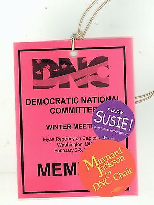 2001 DEMOCRATIC NATIONAL COMMITTEE DNC Maynard Jackson SUSAN TURNBULL Party
