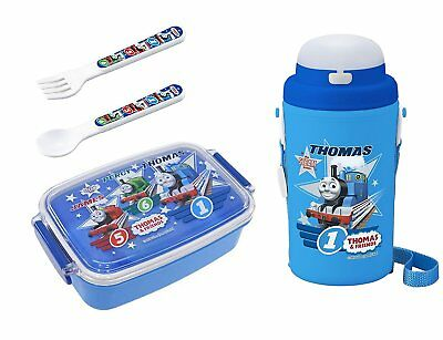 4 Thomas the Tank Engine Products – Lunch Box, Thermos with Straw, Spoon and