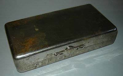 Antique Old Vintage Medical Metal Empty Box for DIRECT BLOOD TRANSFUSION Set