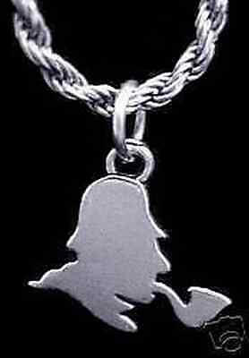 LOOK the adventures of SHERLOCK HOLMES Silver Charm Pendant