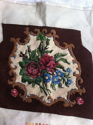 VINTAGE  Needlepoint twilleys HandMade floral Tapestry piece