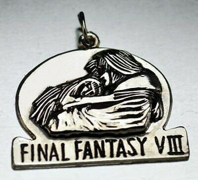 LOOK Sterling Silver Final Fantasy VIII 8 Squall Rinoa Charm