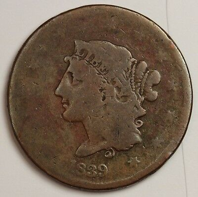 1839 Large Cent.  Many Varieties.  Booby Head.  116476