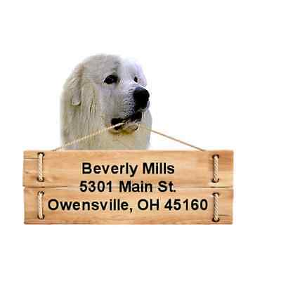 Great Pyrenees return address labels DIE CUT TO SHAPE