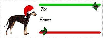 Manchester Terrier Christmas gift tags WATERPROOF 120 pieces
