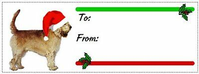 Otterhound Christmas gift tags WATERPROOF 120 pieces
