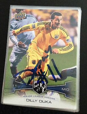 Columbus Crew Dilly Duka Autographed Signed 2012 MLS Upper Deck UD Card