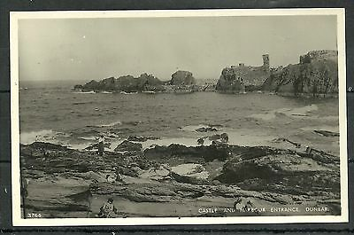 Postcard : Dunbar the Castle and Harbour Entrance posted 1956 RP